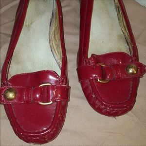 Coach red loafer - fair condition (worn w love)